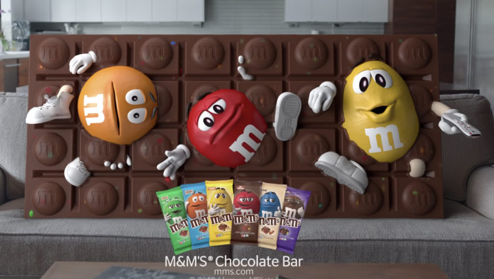 M&Ms Choclate Bars from Mars inc